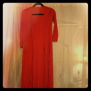 DVF red wrap dress